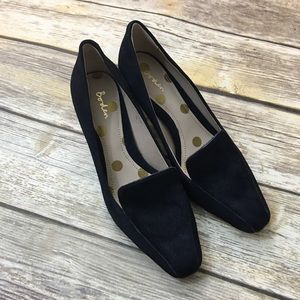 Boden Shoes Amber Heel AR791 Navy Blue Cowhide EUC
